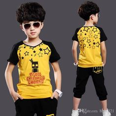 Wholesale cheap clothing set online, brand - Find best new summer children clothing set baby boy's set short o-neck t shirt sets kid suit baby set for 5-15 years old m-3 at discount prices from Chinese clothing sets supplier - babe321 on DHgate.com.
