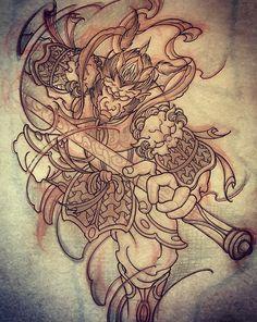 Amsterdam TATTOO 1825 By KIMIHITO Monkey king TATTOo design www.tattoo1825.com