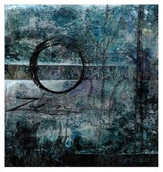 """Zen by Kathy Morton Stanion Mixed Media ~ 14 1/2"""" x 13 3/4"""""""