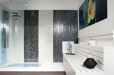 Can't wait to relax in this spa!!! Do you like how our colourful #glassmosaics look here?