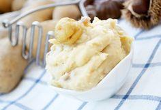 Das #Kastanien Kartoffelpüree ist eine ideale Beilage zu Wildgerichten. Dieses Rezept passt für den Herbst. Mashed Potatoes, Salads, Good Food, Veggies, Ice Cream, Ethnic Recipes, Desserts, Fun, Smashed Potatoes Recipe