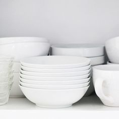 white dishes are the best