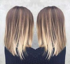10.Long Bob Ombre Hair Color