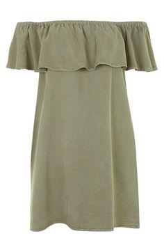 286e96c7258 Topshop Ruffled Off the Shoulder Dress