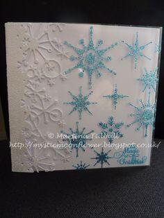 Memory Box die, Sparkle Medium, Sweet Poppy stencil, Crafter's Companion sentiment