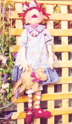 Betsy Anne - cute raggedy style cloth doll pattern