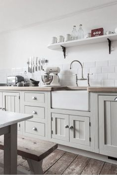 white kitchen with those doors again
