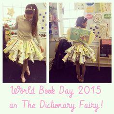 world book day costume early years teacher dictionary fairy handmade Book Fairy Costume, Book Costumes, World Book Day Costumes, Teacher Costumes, Book Week Costume, Diy Costumes, Adult Costumes, 2017 Halloween Costumes, Halloween Costume Contest