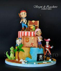 Gâteau pirate en fondant. Sogni di zucchero