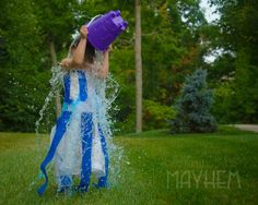Ice Bucket Challenge Turns Mayhem Blue