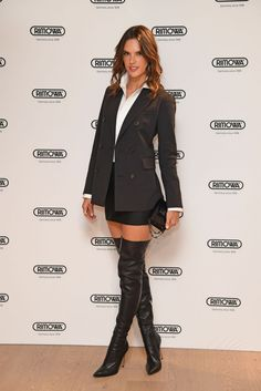 Alessandra Ambrosio wears mini and thigh-high boots at London bash Thigh High Boots, High Heel Boots, Over The Knee Boots, Alessandra Ambrosio, Sexy Boots, Cool Boots, Kylie Jenner, Boots London, Celebrity Boots