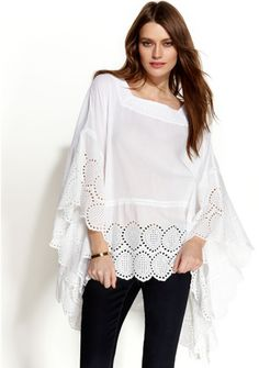 Love this: Michael Fluttersleeve Eyelet Poncho @Lyst