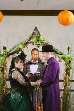 Being married by Jack Skellington #Halloween #wedding