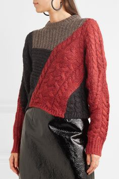 Isabel Marant Étoile | Daryl color-block paneled knitted sweater | NET-A-PORTER.COM