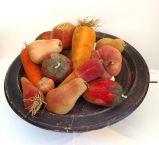19thc Velvet Therom Fruit Collection