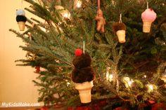 ice cream cone ornaments