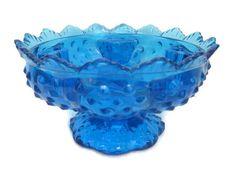 Fenton Cobalt Blue Candle Bowl    2014685  by OxbowCreekExchange, $15.00