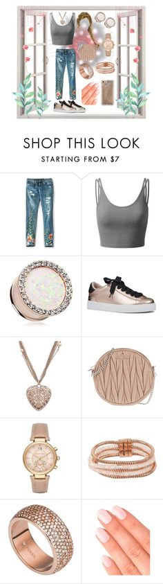 """""""Pink queen."""" by lo-rin ❤ liked on Polyvore featuring BLANKNYC, Doublju, Nine West, Chanel, Miu Miu, Michael Kors, Betsey Johnson, FOSSIL, Elegant Touch and Agent 18"""