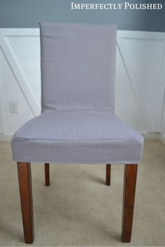 DIY Parsons Chair Cover from Imperfectly Polished.