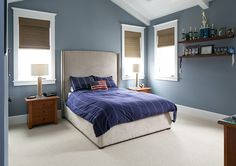 "California Beach House Designed by Brandon Architects - ""Boy's Bedroom Paint Color"" (Benjamin Moore James River Grey)"