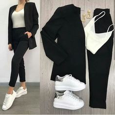 25 cute Outfits to wear this winter . – Bilder Land 25 cute Outfits to wear this winter . Casual Work Outfits, Business Casual Outfits, Mode Outfits, Office Outfits, Classy Outfits, Trendy Outfits, Girl Outfits, Fashion Outfits, Rubber Shoes Outfit Casual