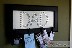 Dad frame out of washers