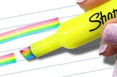 Top saved idea for school supplies is this DIY rainbow highlighter. Office Deco, Cool School Supplies, Diy Edible School Supplies, Office Supplies, School Suplies, Rainbow Theme, Rainbow Dash, Too Cool For School, School Fun