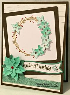 Warmest Wishes Wreath card