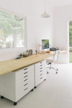 Moderne Inneneinrichtung - 63 Ideen, wie Sie das Home Office organisieren