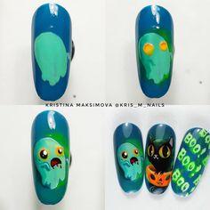 Nail Art Diy, Diy Nails, Monster Inc Nails, Halloween Nails, Nail Art Designs, Characters, Finger Nails, Amor, Nail Manicure