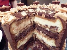 Peanut Butter Cup Chocolate Cheesecake Insides