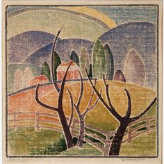 Blanche Lazzell Artist | Blanche Lazzell: West Virginia Hills, 1919