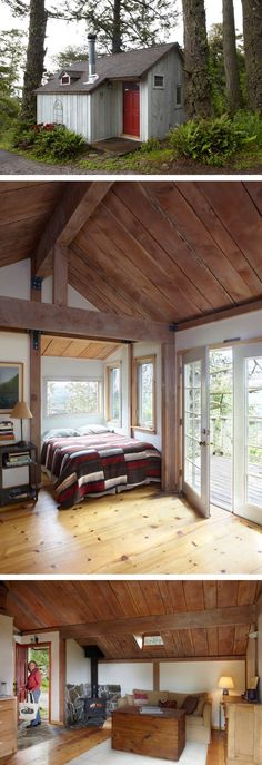 A small Cabin made from one tree! http://tinyhouseswoon.com/one-tree-home/