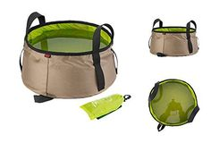 10l Portable Outdoor Folding Water Bag Wash Basin Bucket for Camping Hiking Travel Outdoor Camping Folding Washbasin Large Volume Watertight Storage for Outdoor Sports Car Storage Fishing Tourism * Click image for more details. (Note:Amazon affiliate link)