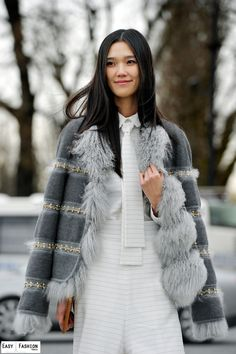 Tao Okamoto after a show at le Grand Palais | Paris  Read more: http://easyfashion.blogspot.com/2014/03/tao-okamoto-les-champs-elysees-paris.html#ixzz3ILcrFnup