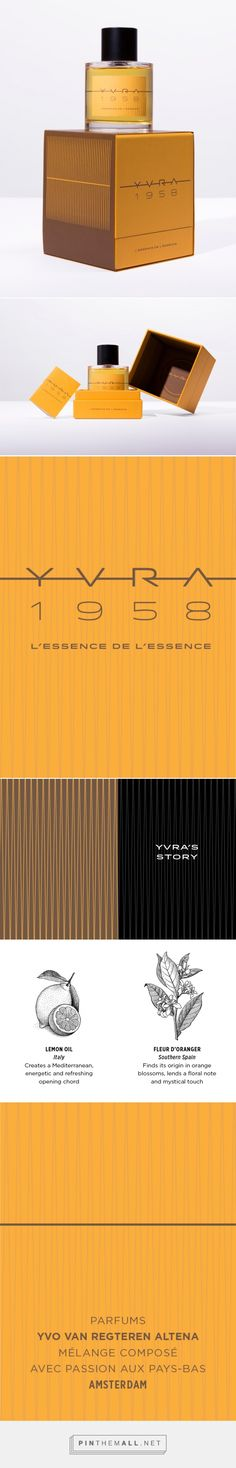 YVRA 1958 / L'essence de l'essence - Packaging of the World - Creative Package Design Gallery - http://www.packagingoftheworld.com/2016/10/yvra-1958-lessence-de-lessence.html