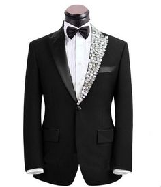 Cheap clothing manufacturers united states, Buy Quality dress clubbing directly from China clothing teen Suppliers: Plus size Mens fashion rhinestone collar Clothes male singer suit set with pants costume bling formal wedding dress married Mens Fashion Suits, Mens Suits, Looks Adidas, Formal Dresses For Weddings, Formal Wedding, Wedding Dress, Mode Costume, Pantalon Costume, Designer Suits For Men
