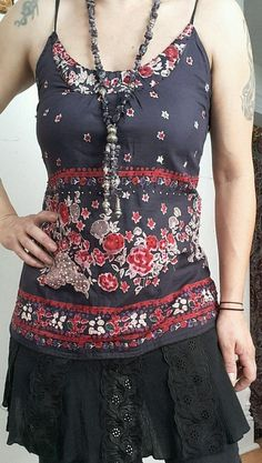 FREE PEOPLE BOHEMIAN FESTIVAL BOHO PAISLEY EMBROIDERED FLORAL TUNIC TOP DRESS XS #FreePeople #KnitTop #Casual