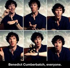 The many faces of Benedict Cumberbatch…