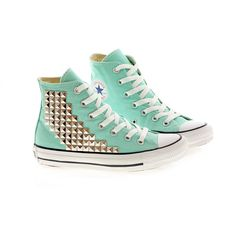 Studded Converse by CUSTOMDUO on ETSY ($135) via Polyvore