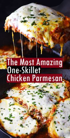 The Most Amazing One-Skillet Chicken Parmesan - SundayRecipes - Chicken dishes - Chicken Parmesean, Chicken Marinara, Easy Oven Baked Chicken, Oven Baked Chicken Parmesan, Chicken Parmesan Casserole, Crispy Chicken, Chicken Parmesan Sandwich, Cast Iron Recipes, Iron Skillet Recipes