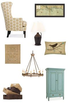 Country Cottage Decor @ MyHomeLookBookMyHomeLookBook, like the dotted chair