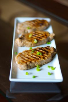 Lemon-Ginger Grilled Pork Chops
