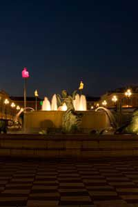 Massena fountain in Nice France