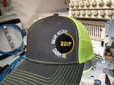 c7cc19a6f1b47 Event caps with glow in the dark thread available at Print Specialties  Embroidered Clothes