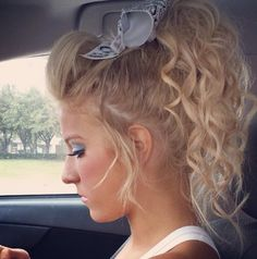 More cheer hair ideas! Dance Hairstyles, Pretty Hairstyles, Braided Hairstyles, Hair Dos, Your Hair, Cheer Makeup, Competition Hair, Girly, Barbie