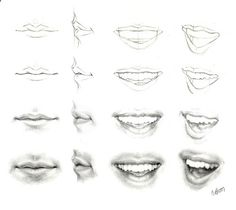 Delineate Your Lips image Tutorials on mouths, noses, eyes and hair - How to draw lips correctly? The first thing to keep in mind is the shape of your lips: if they are thin or thick and if you have the M (or heart) pronounced or barely suggested.