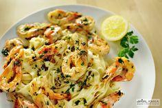 Tagliatelle con Gamberi (Shrimps)