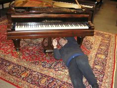 Piano removal services. While spinet, console, studio upright, upright grand, and other upright pianos typically need no disassembly; baby grand, grand, and concert grand pianos must be carefully taken off their legs, wrapped in blankets, and placed on a skid board or piano board. #piano