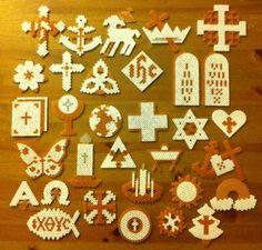 Set of 32 Perler Beads Chrismon Christian Christmas Ornaments | eBay